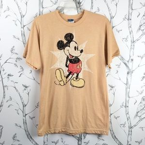 Disney Mickey Mouse classic graphic tee tan M